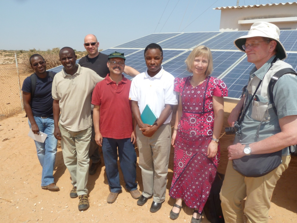 Solar xChange team in village Makasaar, Senegal