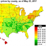 Gasoline Prices Ahead of Memorial Day are Higher than 2016, But Second Lowest Since 2009