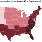 U.S. Average Retail Gasoline Prices Increase in Wake of Hurricane Harvey