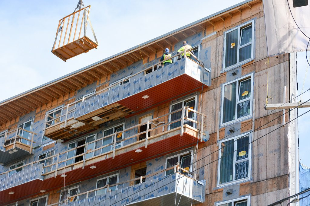 A green building under construction in Vancouver. Photo: Stephen Hui/Pembina Institute